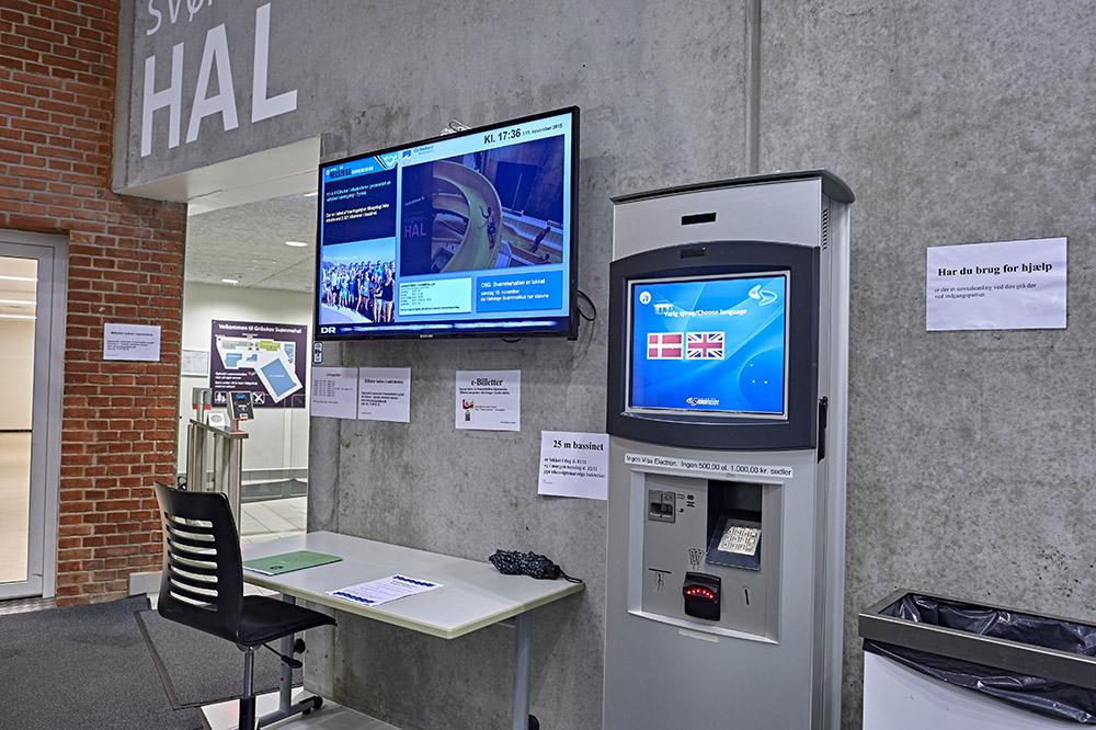 Registreringsautomat Helsinge Svømmehal