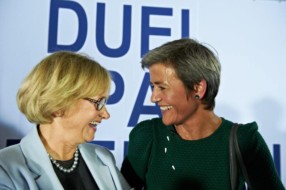 Pia Kjærsgaard og Margrethe Vestager