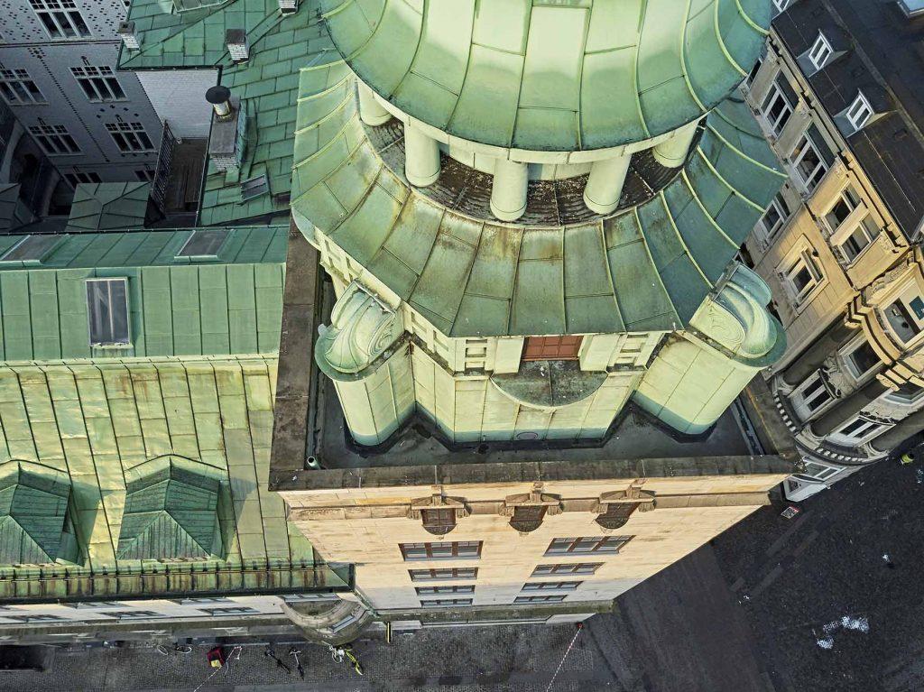 Dronefoto ved Domhuset