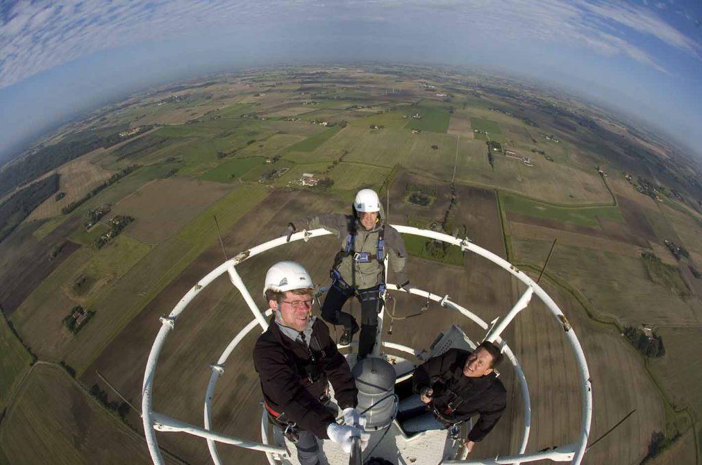 TV2 antennemast og selfie i Jyderup