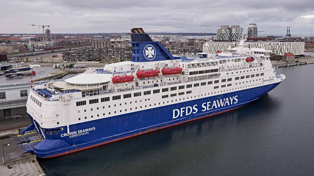 DFDS med drone