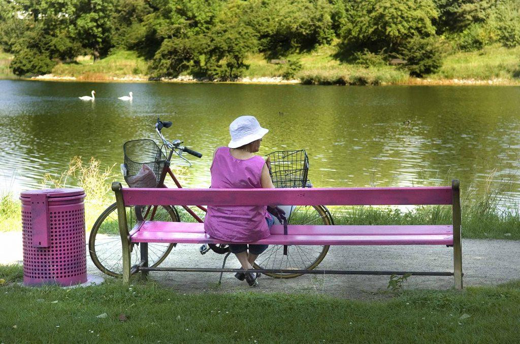 Denne dame elskede lilla ;-)