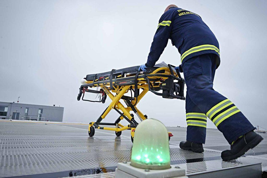 Helikopter på Rigshospitalet
