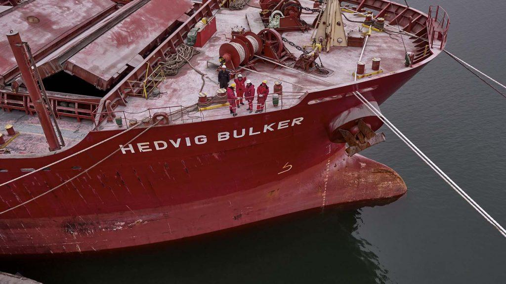 J.Lauritzen skib i Aalborg Havn