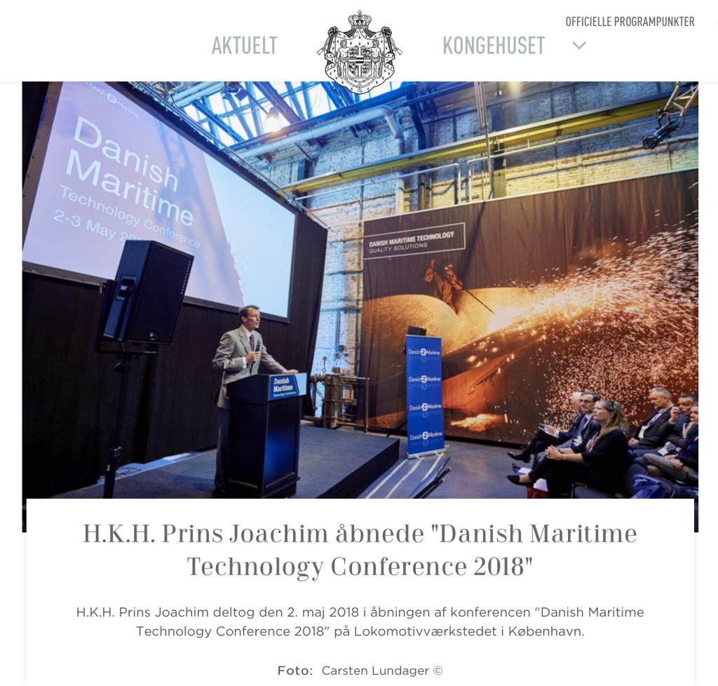 HKH Prins Joachim og Danske Maritime