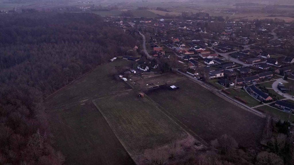 Bondegård i Helsinge Dronefoto