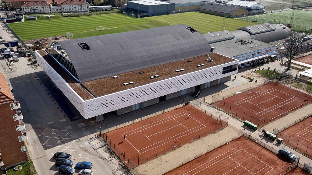 KB Hallen dronefoto for kunde