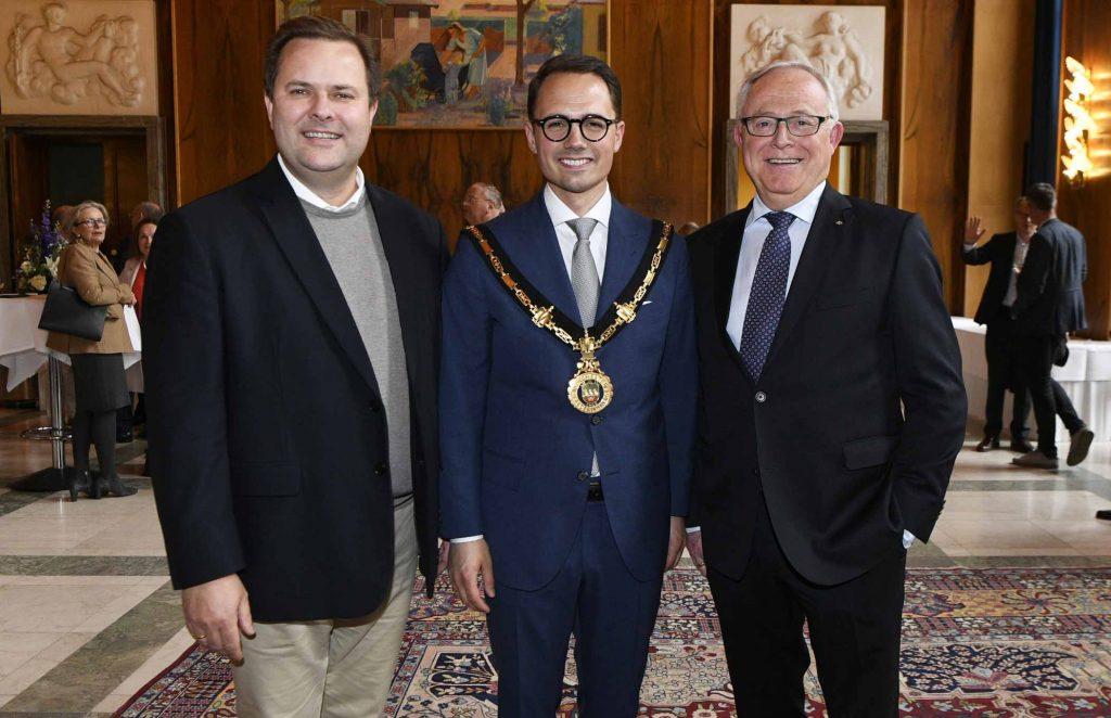 3 borgmestre mødes og jeg er fotograf på dagen hvor Simon Aggessen holder reception på Frederiksberg