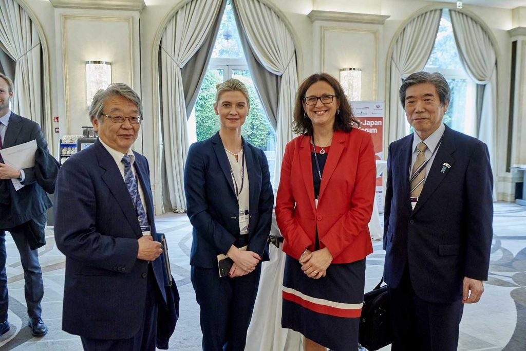 Cecilia Malmström EU kommisær i Milano EU Japan