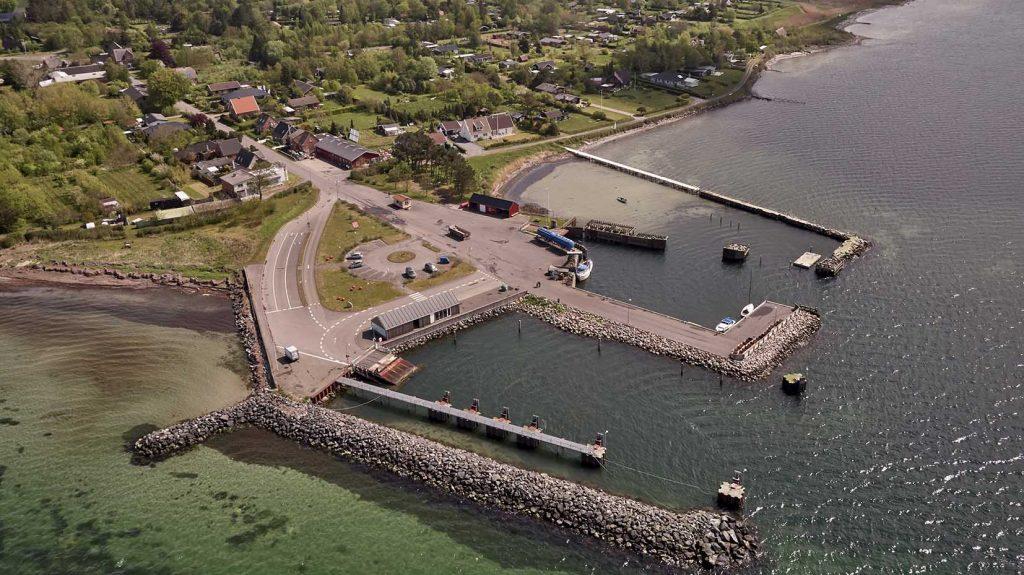 Fejø Havn Dronefoto