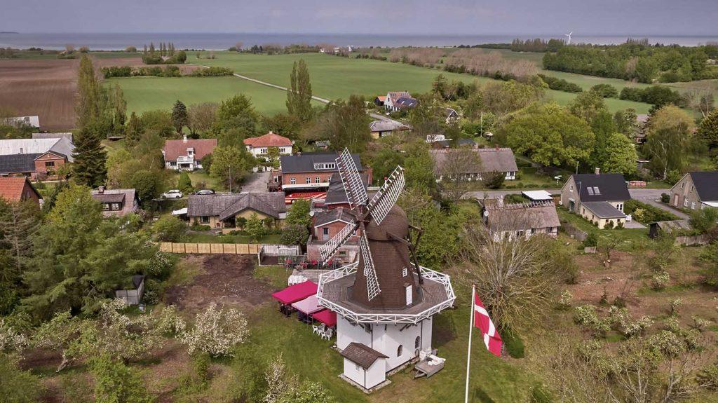 Fejø Mølle Dronefoto