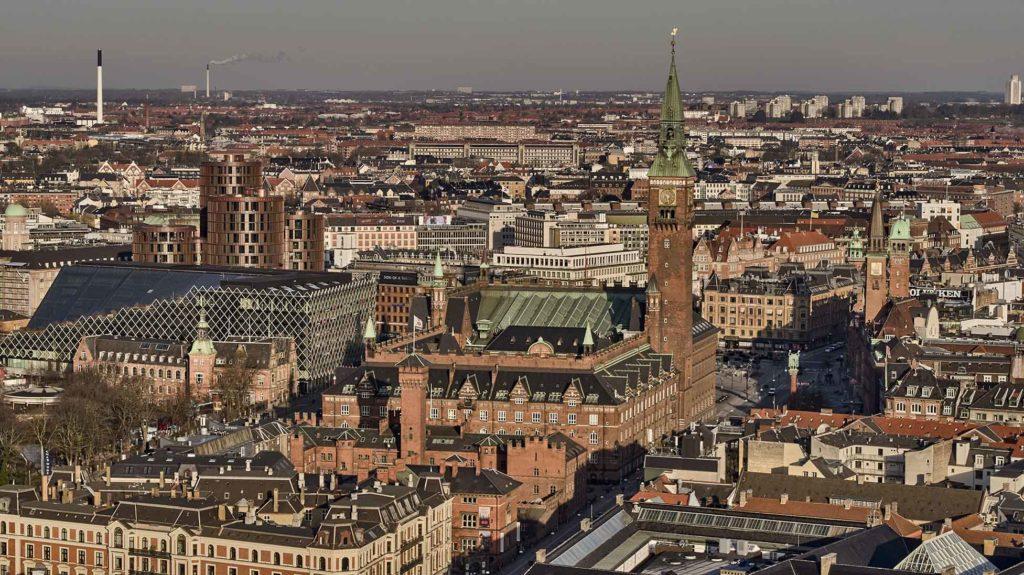 Københavns Rådhus Dronefoto