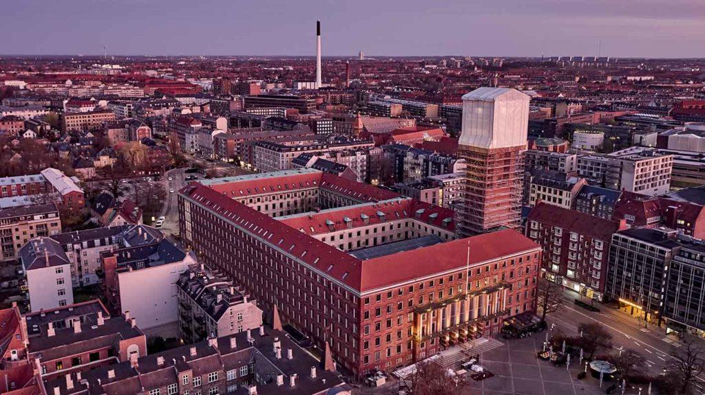 Frederiksberg Rådhus renovering Dronefoto