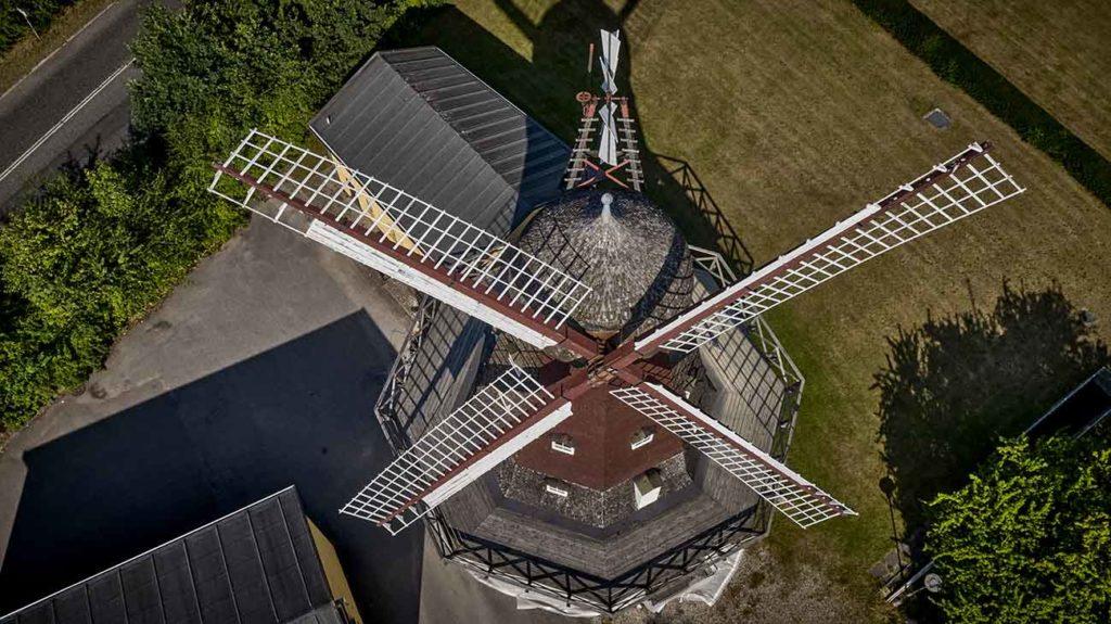 Møllen i Hørsholm dronefoto