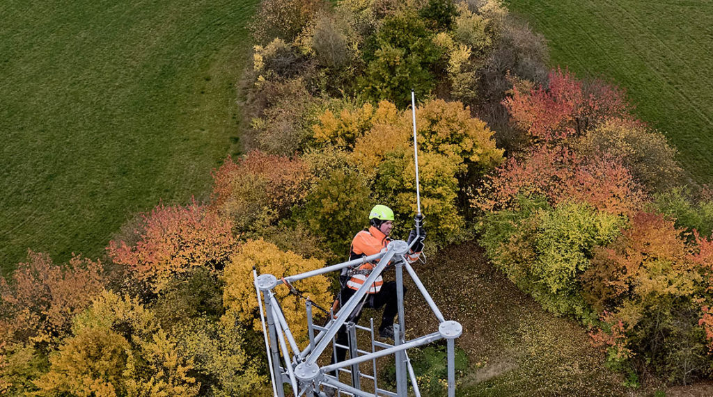 Dronefoto antennemast dronefoto