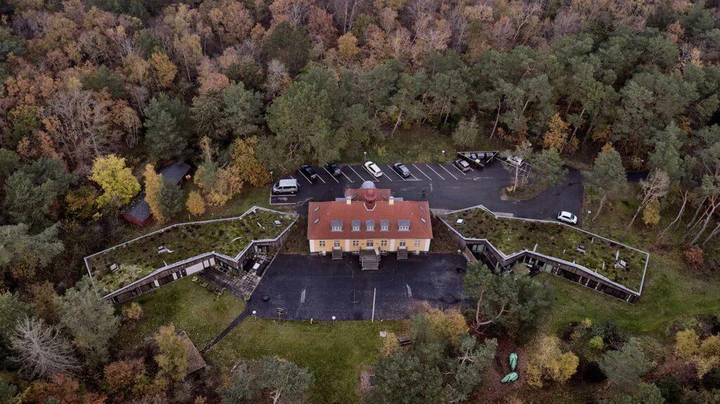 Margarethagården i Hornbæk dronefoto